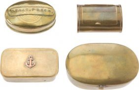 Lot Of Four Assorted Collectible Snuff Boxes.