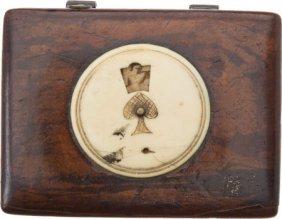 Civil War Era Wooden Game Box.