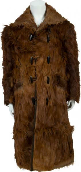 Antique Men's Western Bearskin Coat.