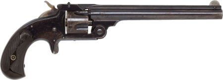 50563: Scarce Long Barreled Smith & Wesson Model 1 1/2