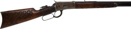 50667: Uniquely Carved Winchester Model 1892 Lever Acti