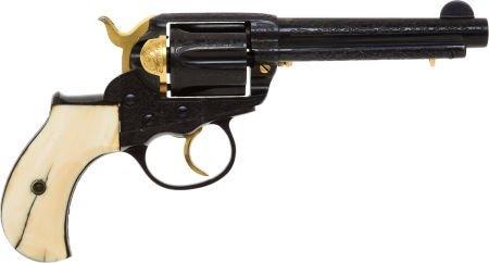 50567: Custom Engraved Colt Model 1877 Thunderer Double