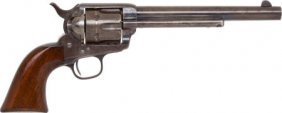 Scarce Etched Panel Colt Frontier Six-Shooter Si