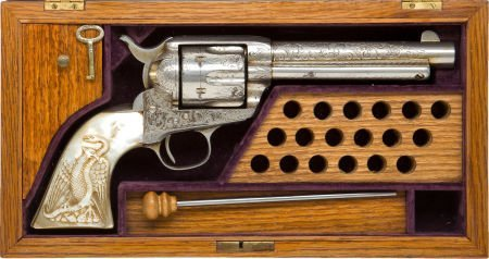 50580: Cased London Engraved Colt Frontier Six-Shooter