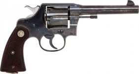 Colt New Service Double Action Revolver With Hol