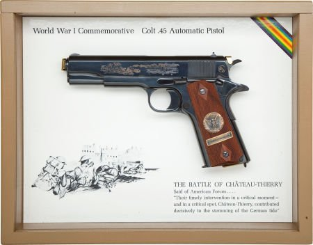 50780: Cased Colt Model 1911 WWI Commemorative Semi-Aut