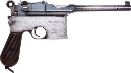 50730: Mauser Model 96 Late Flatside Semi-Automatic Pis