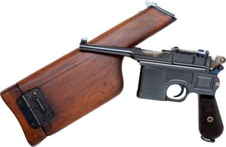 50731: Mauser Model 96 Bolo Semi-Automatic Pistol with