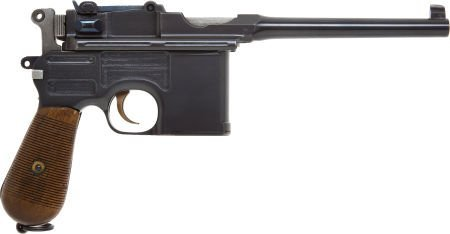 50733: Mauser Model 96 Semi-Automatic Pistol with Match