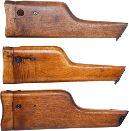 50741: Lot of Three Assorted Wooden Shoulder Stocks for