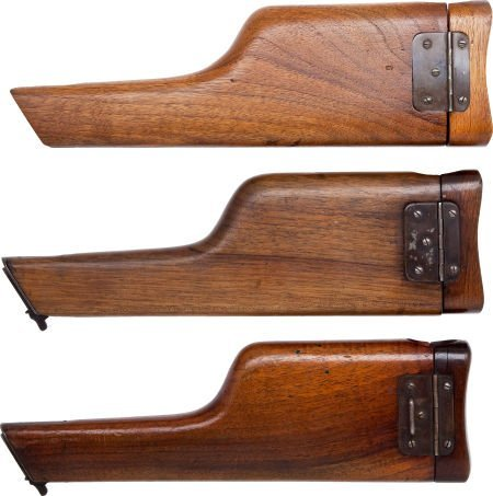 50742: Lot of Three Assorted Wooden Shoulder Stocks for