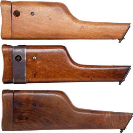 50743: Lot of Three Assorted Wooden Shoulder Stocks for