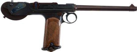 50745: Russian Miniature Borchardt Semi-Automatic Pisto