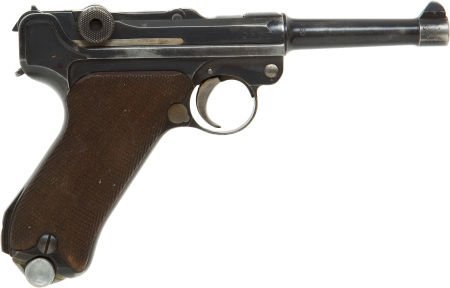50748: German DWM P-08 Luger Semi-Automatic Pistol toge
