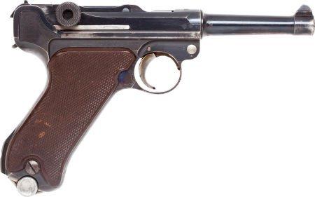 50749: German Krieghoff Model P-08 Parabellum Luger Sem