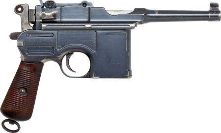50732: Mauser Model 96 Bolo Semi-Automatic Pistol.