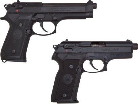 30047: Beretta Lot (2) Models 8045 & 92SF.45 & 9mm Semi