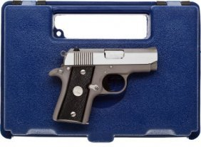 Boxed Colt Mustang Semi-Automatic Pistol.