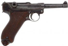 German DWM Luger Semi-Automatic Pistol.