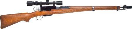30063:  Schmidt Rubin M31 Bolt Action Rifle with Telesc