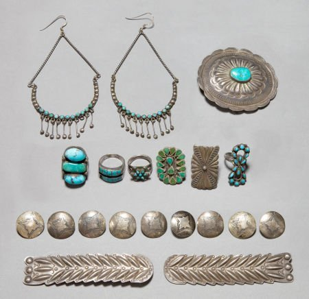 50005: TEN SOUTHWEST SILVER ITEMS c. 1940 - 1960