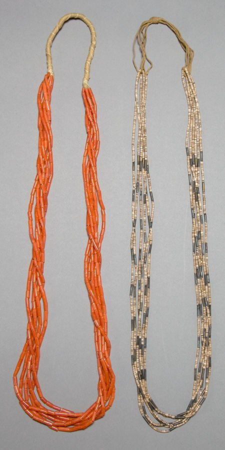 50018: TWO PUEBLO STONE NECKLACES c. 1965