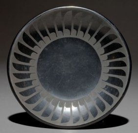 A SAN ILDEFONSO BLACKWARE PLATE Santana And Adam