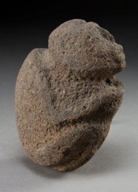 A CASAS GRANDE STONE EFFIGY C. 1100 - 1200 A.D.