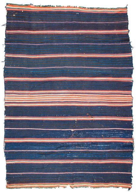 50081: A LATE-CLASSIC NAVAJO MOKI SERAPE c. 1865