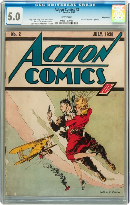 91001: Action Comics #2 Billy Wright pedigree (DC, 1938