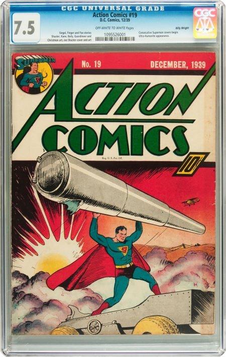 91002: Action Comics #19 Billy Wright pedigree (DC, 193