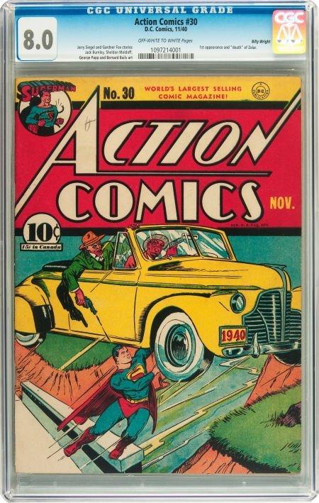 91003: Action Comics #30 Billy Wright pedigree (DC, 194