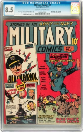 Military Comics #2 (Quality, 1941) CGC VF+ 8.5 C