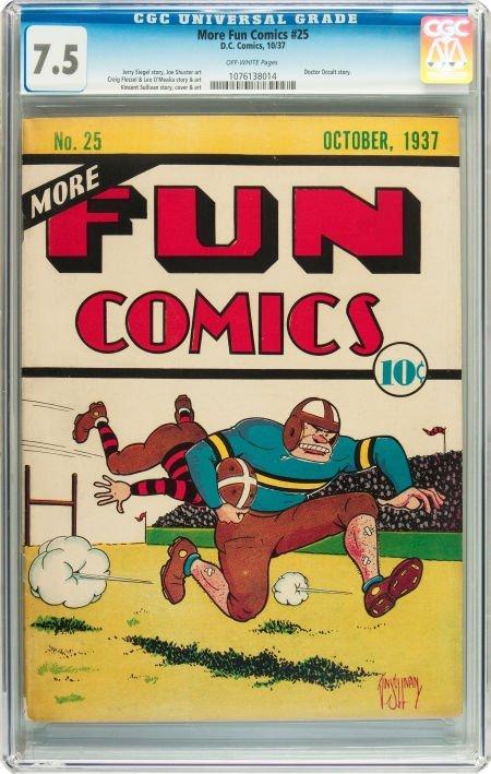 91171: More Fun Comics #25 (DC, 1937) CGC VF- 7.5 Off-w