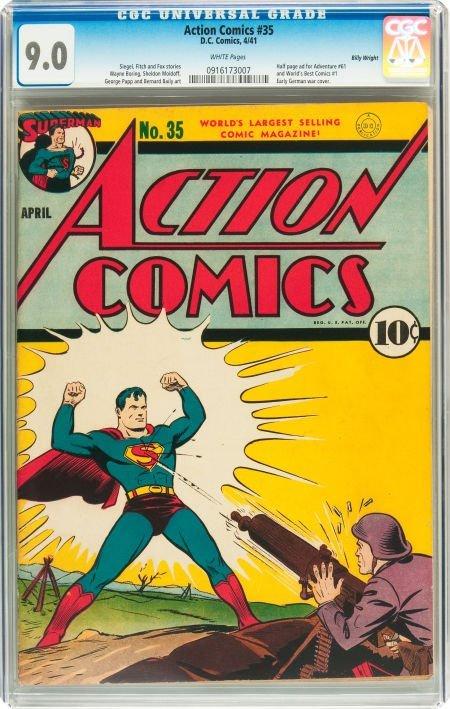 91006: Action Comics #35 Billy Wright pedigree (DC, 194
