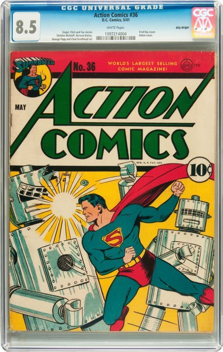91007: Action Comics #36 Billy Wright pedigree (DC, 194