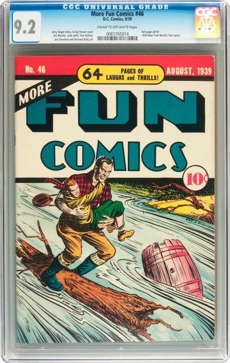 91174: More Fun Comics #46 (DC, 1939) CGC NM- 9.2 Cream