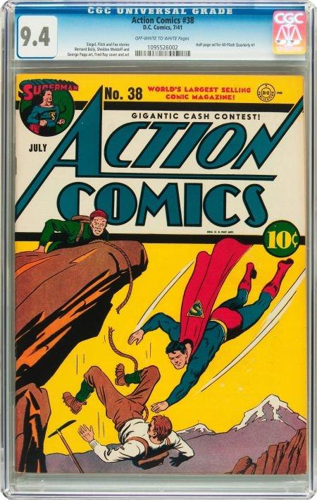 91008: Action Comics #38 (DC, 1941) CGC NM 9.4 Off-whit