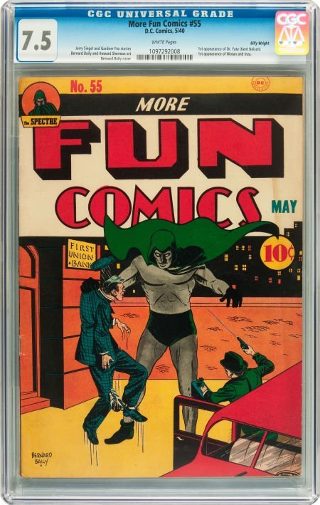 91175: More Fun Comics #55 Billy Wright pedigree (DC, 1