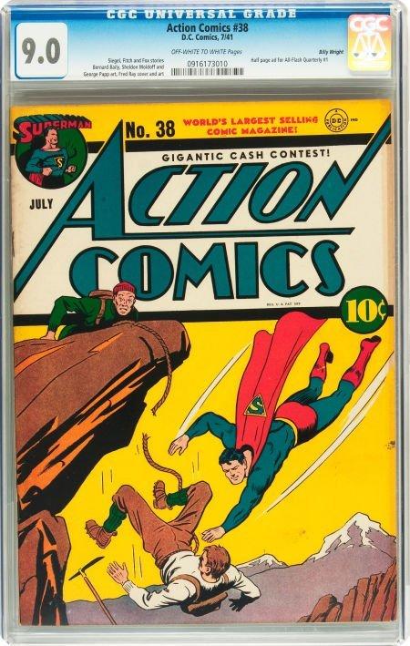 91009: Action Comics #38 Billy Wright pedigree (DC, 194
