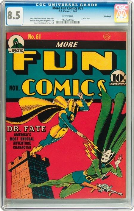 91176: More Fun Comics #61 Billy Wright pedigree (DC, 1