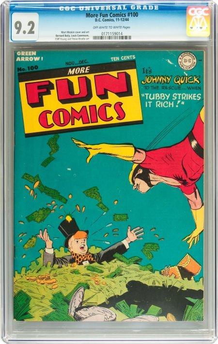 91177: More Fun Comics #100 (DC, 1944) CGC NM- 9.2 Off-