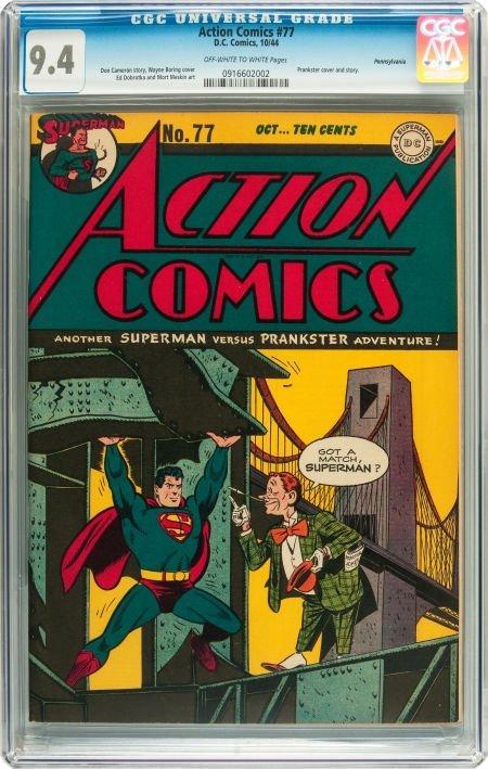 91011: Action Comics #77 Pennsylvania pedigree (DC, 194