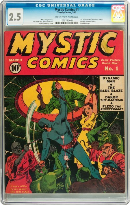 91178: Mystic Comics #1 (Timely, 1940) CGC GD+ 2.5 Crea