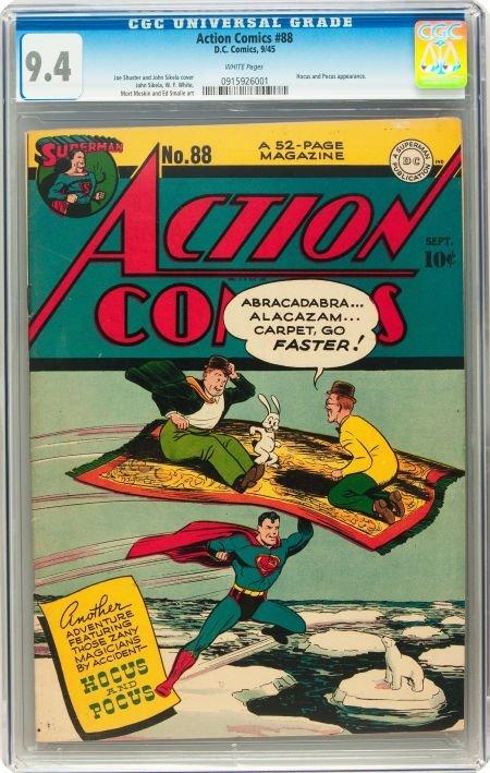91012: Action Comics #88 (DC, 1945) CGC NM 9.4 White pa