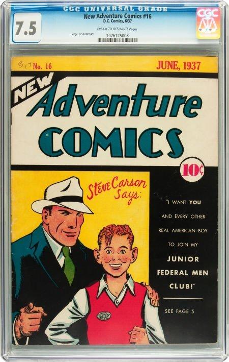 91179: New Adventure Comics #16 (DC, 1937) CGC VF- 7.5