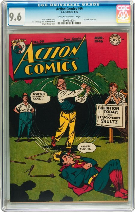 91013: Action Comics #99 (DC, 1946) CGC NM+ 9.6 Off-whi
