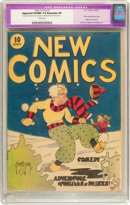 91180: New Comics #1 (DC, 1935) CGC Apparent VF/NM 9.0