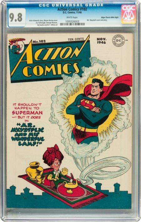 91014: Action Comics #102 Mile High pedigree (DC, 1946)