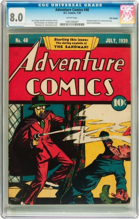 91015: Adventure Comics #40 Billy Wright pedigree (DC,